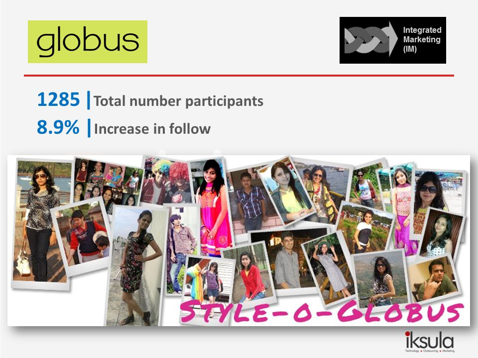 1285| Total number participants 8.9% | Increase in follow