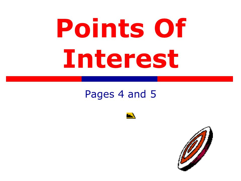Points Of Interest Pages 4 and 5