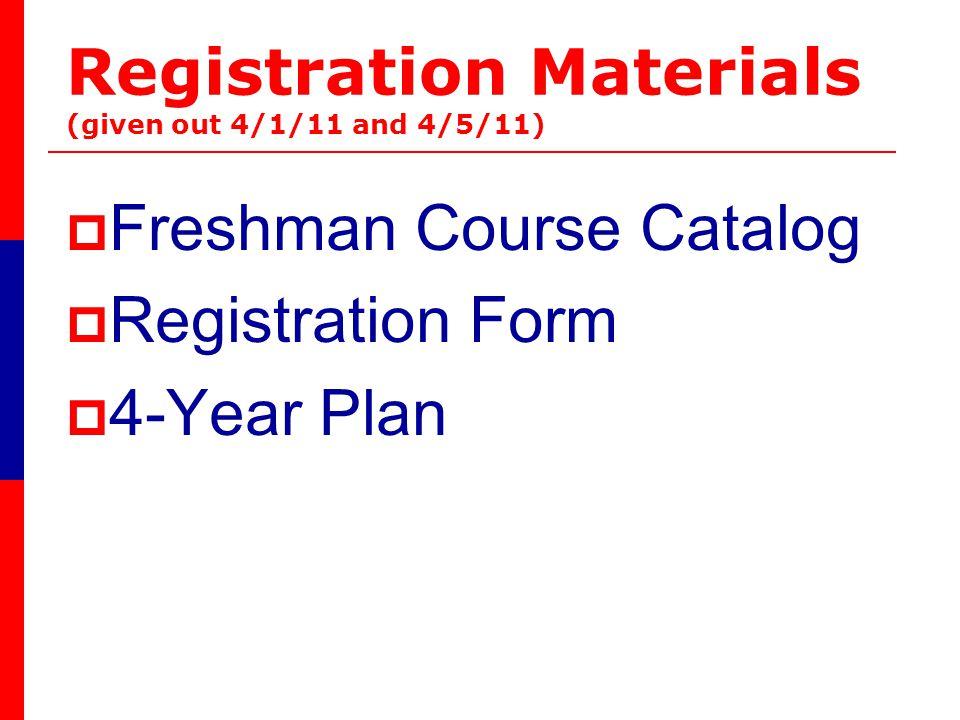 Freshman Course Descriptions