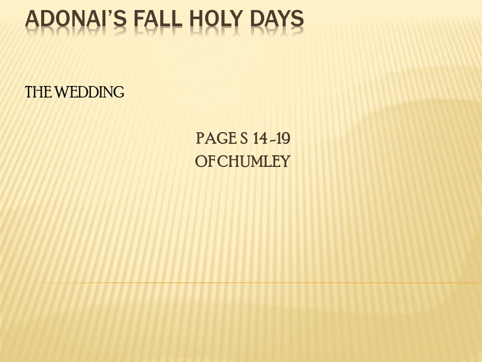 THE WEDDING PAGE S OF CHUMLEY