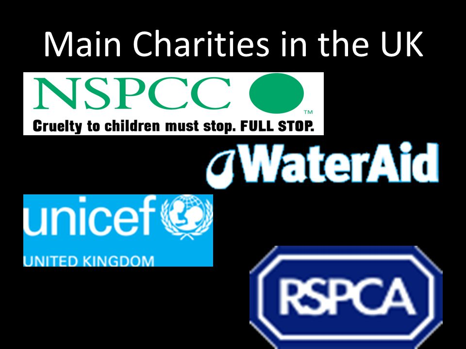 Main Charities in the UK