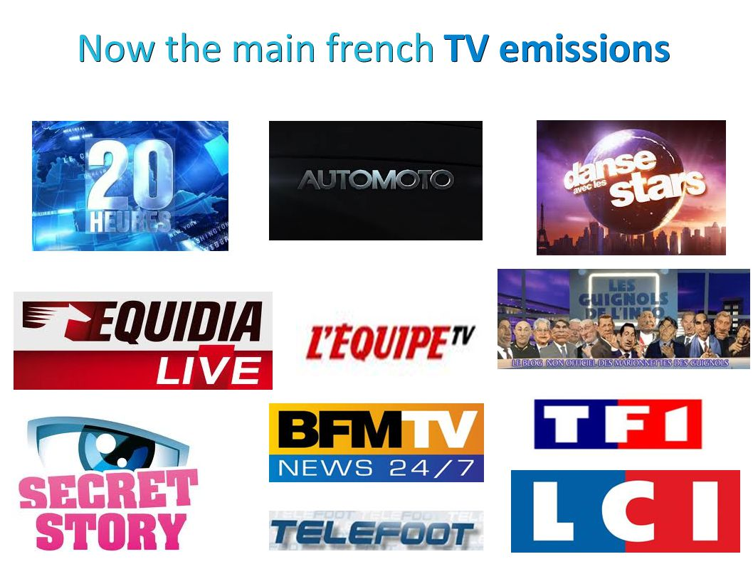 Now the main french TV emissions