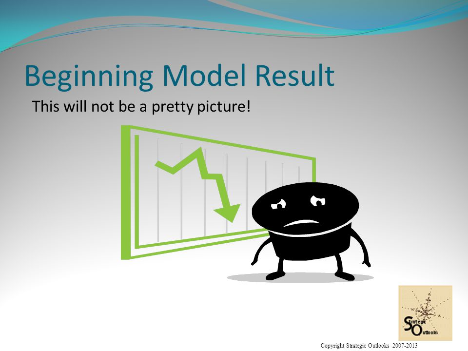 Copyright Strategic Outlooks 2007-2013 Beginning Model Result This will not be a pretty picture!