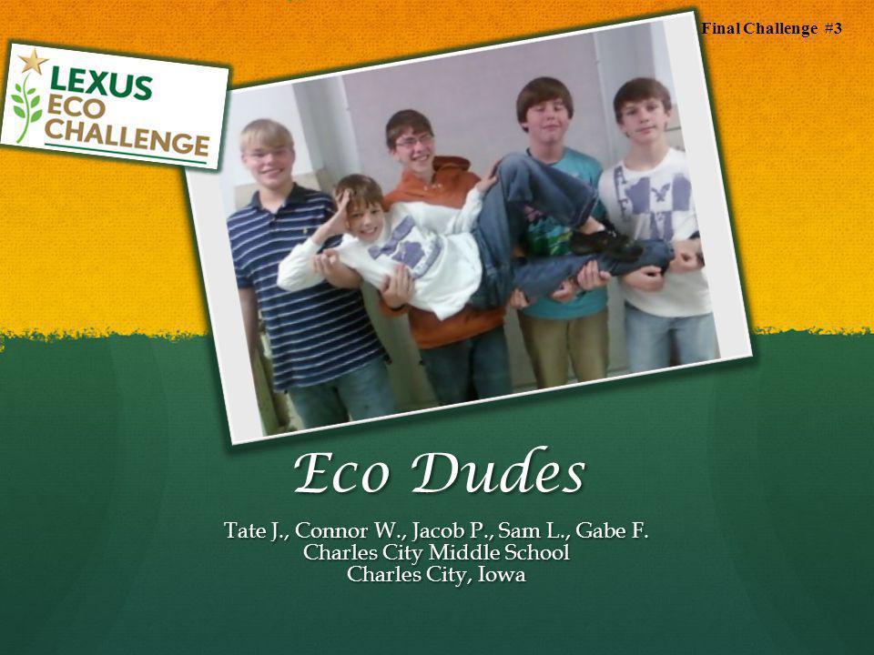 Eco Dudes Tate J., Connor W., Jacob P., Sam L., Gabe F.