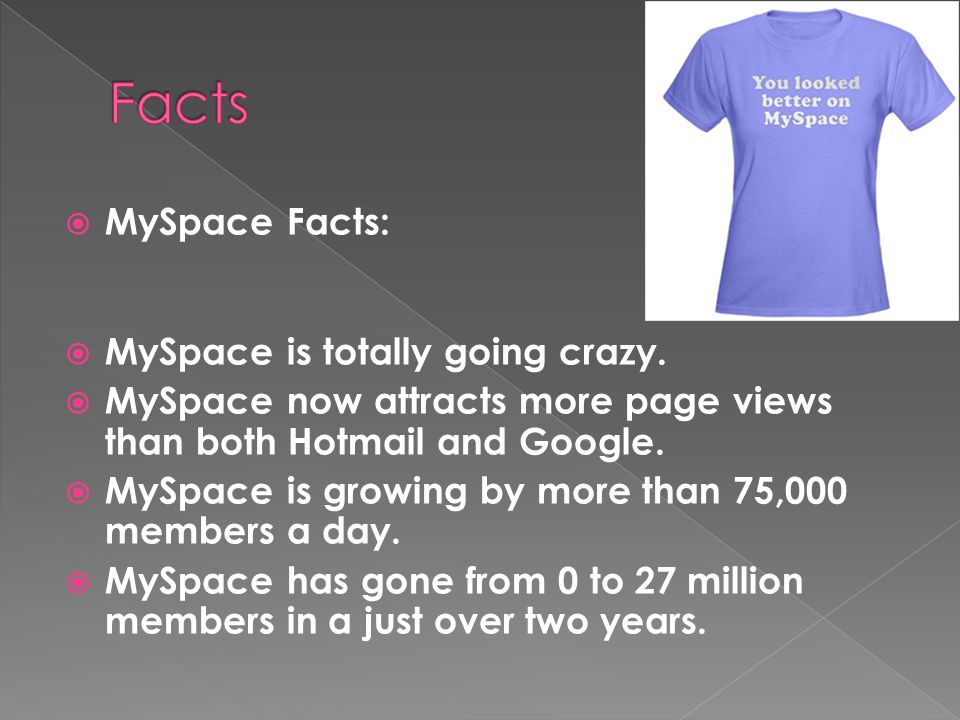 MySpace Facts: MySpace is totally going crazy.