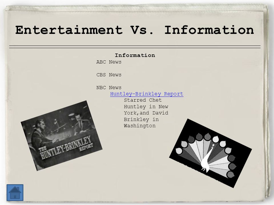 Entertainment Vs.