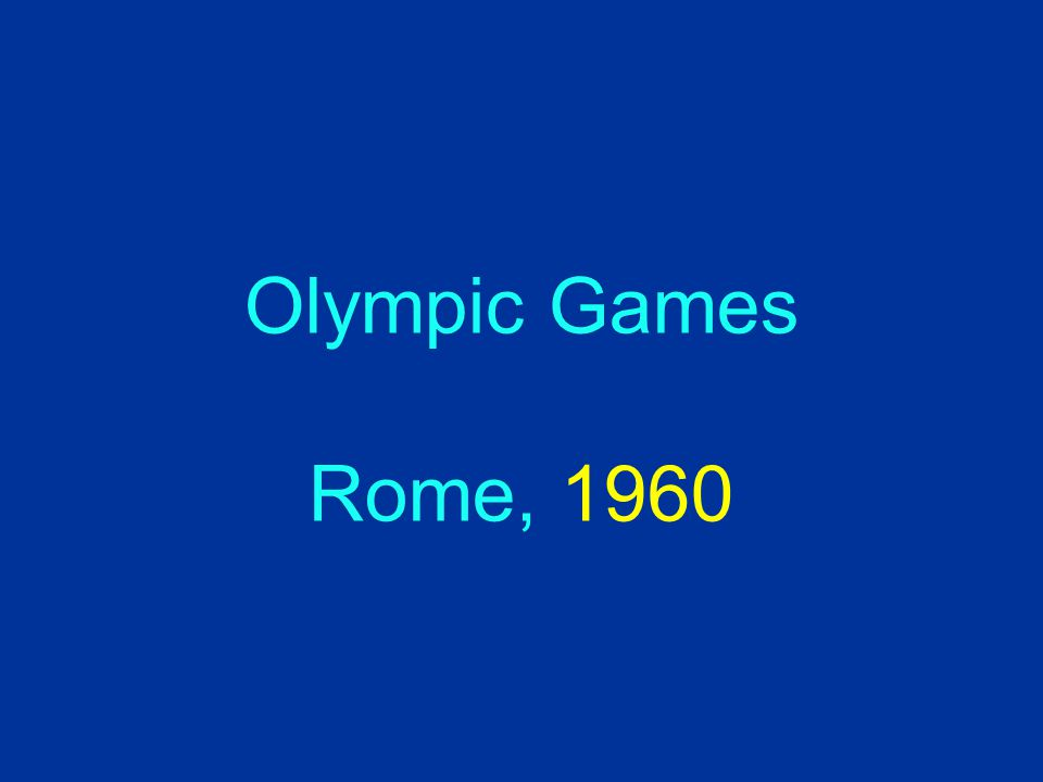 Olympic Games Rome, 1960