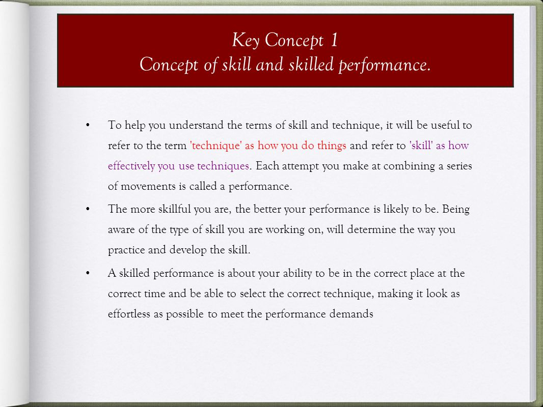 Having collected information about your performance you are now in a position to create a plan to improve your skill / technique.