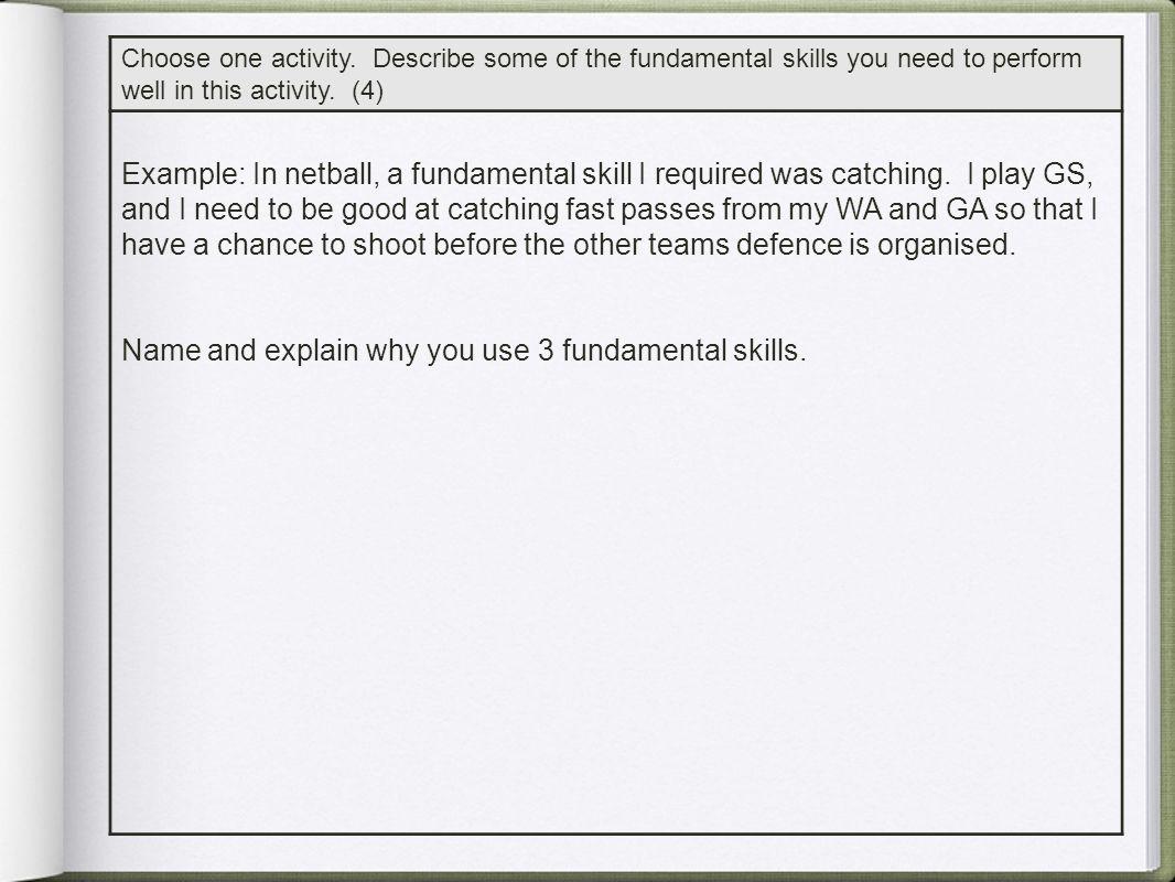 Self-paced Skills Externally-paced Skills