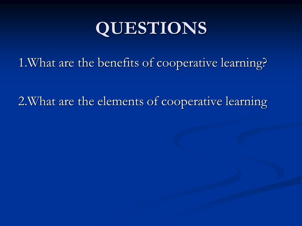 3.Which is the following statements not related to the cooperative learning.