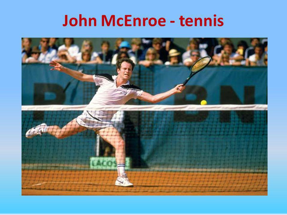John McEnroe - tennis
