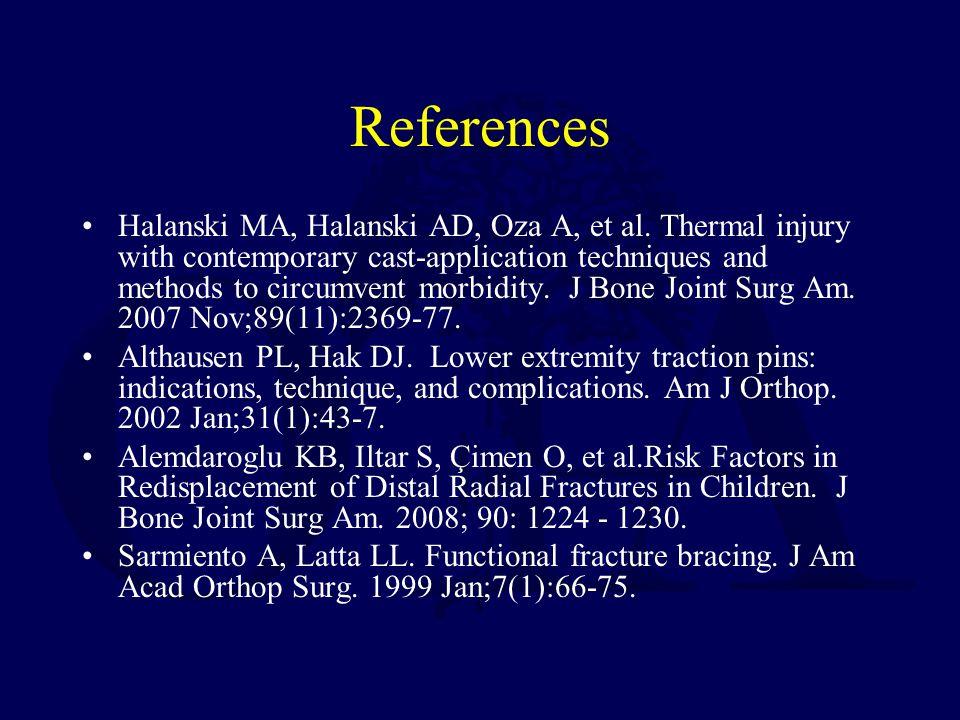 References Halanski MA, Halanski AD, Oza A, et al.