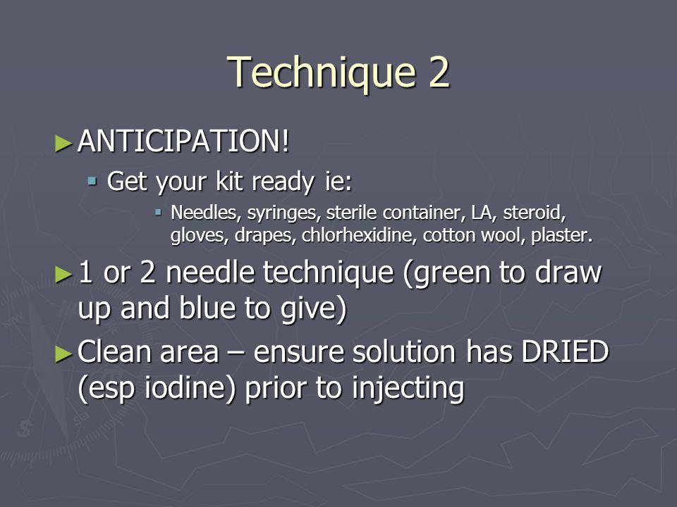 Technique 2 ANTICIPATION.ANTICIPATION.