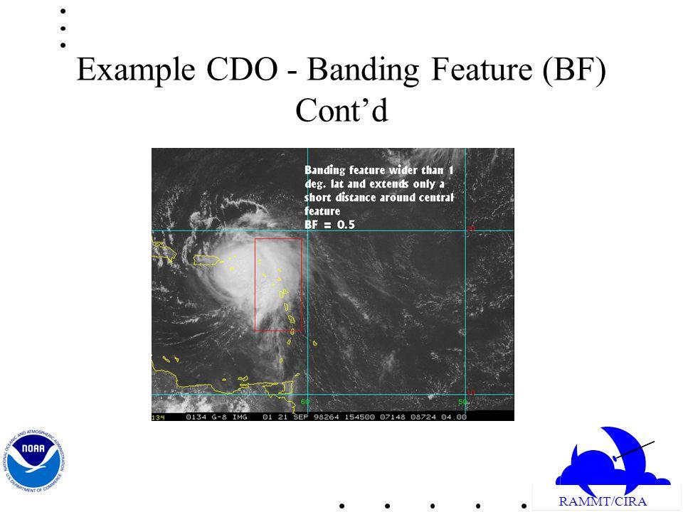 RAMMT/CIRA Example CDO - Banding Feature (BF) Contd