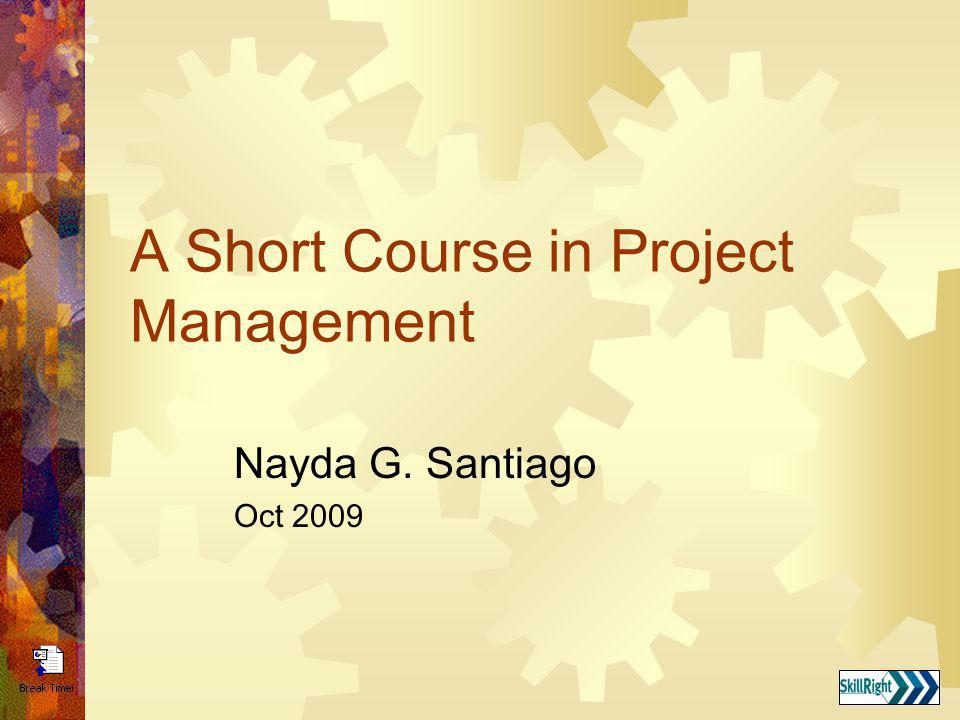 Project Management Tools and Techniques An Introductory Course in Project management Foundations