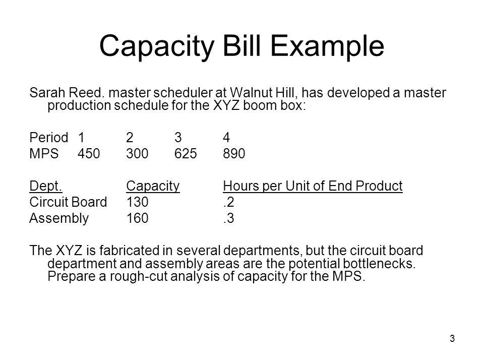 3 Capacity Bill Example Sarah Reed.