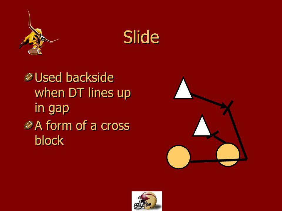 Slide Used backside when DT lines up in gap A form of a cross block Used backside when DT lines up in gap A form of a cross block