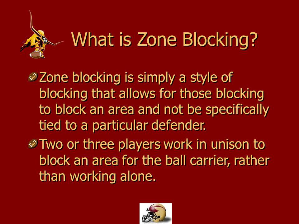 Why Zone Blocking.