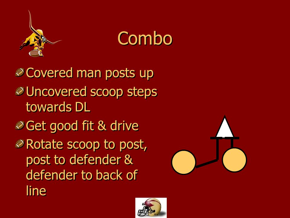 Combo Covered man posts up Uncovered scoop steps towards DL Get good fit & drive Rotate scoop to post, post to defender & defender to back of line Cov