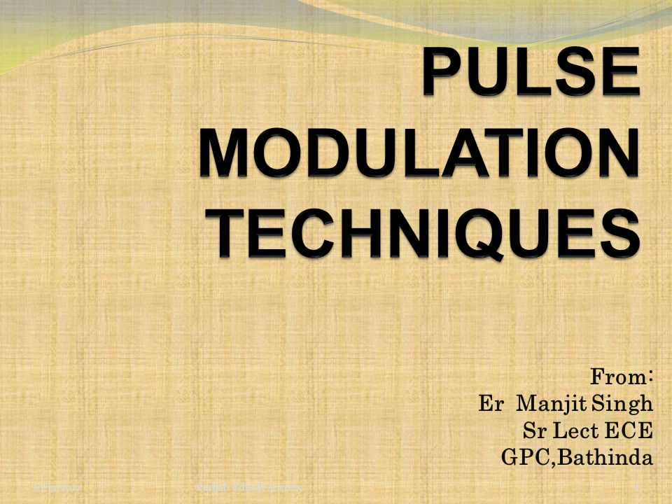61 Conclusion The main advantage of these pulse modulation schemes are better noise immunity and possibility of use of repeaters which makes communication more reliable and error free.