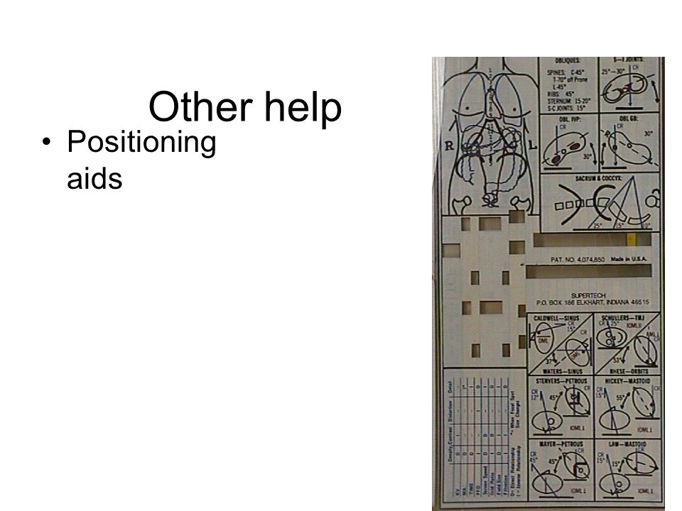 44 Other help Positioning aids