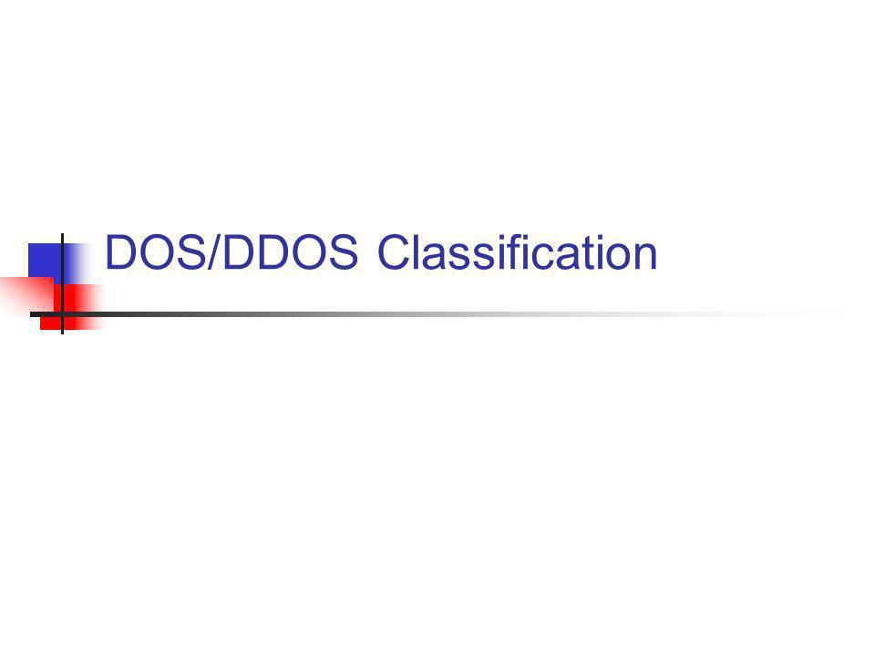 DOS/DDOS Classification