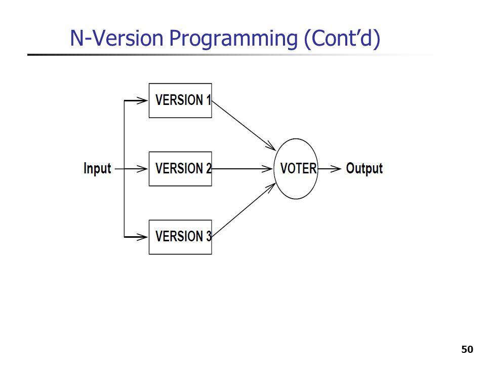 50 N-Version Programming (Contd)