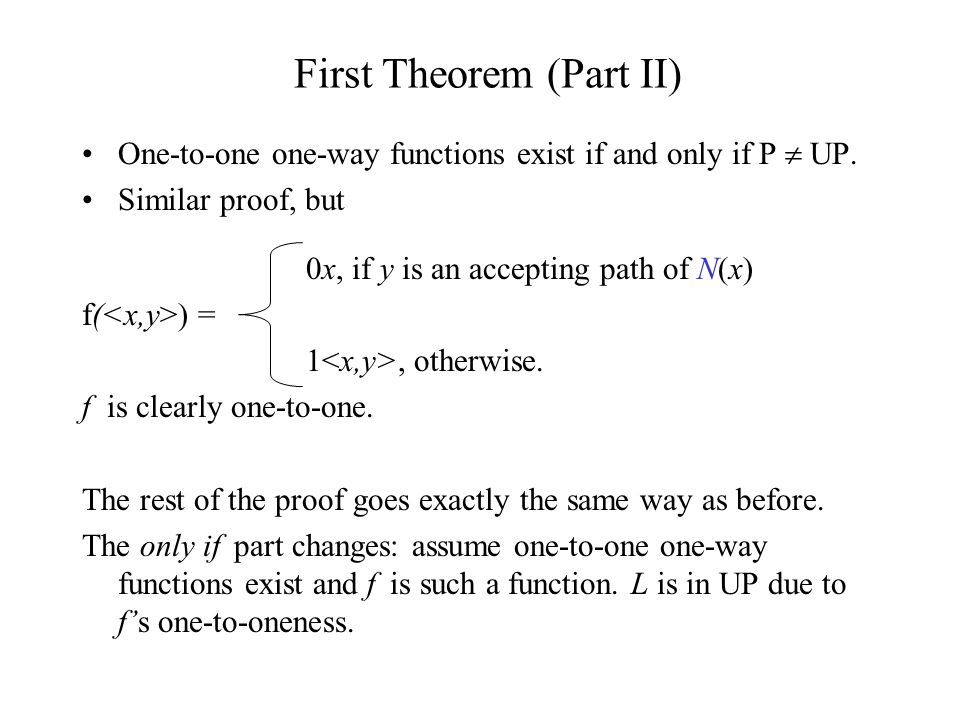 One-to-one one-way functions exist if and only if P UP.
