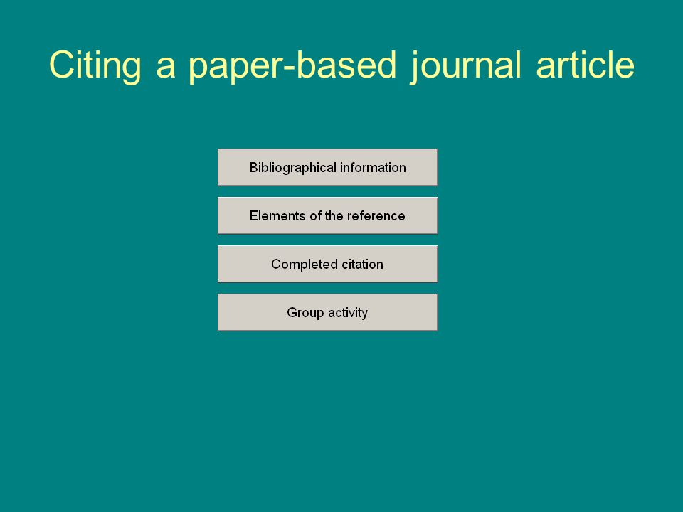 Citing a paper-based journal article