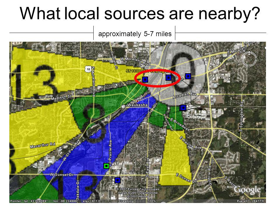 What local sources are nearby approximately 5-7 miles