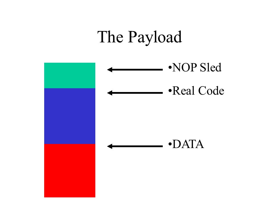 The Payload Real Code DATA NOP Sled