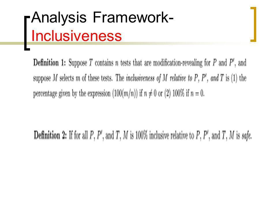 Analysis Framework- Inclusiveness