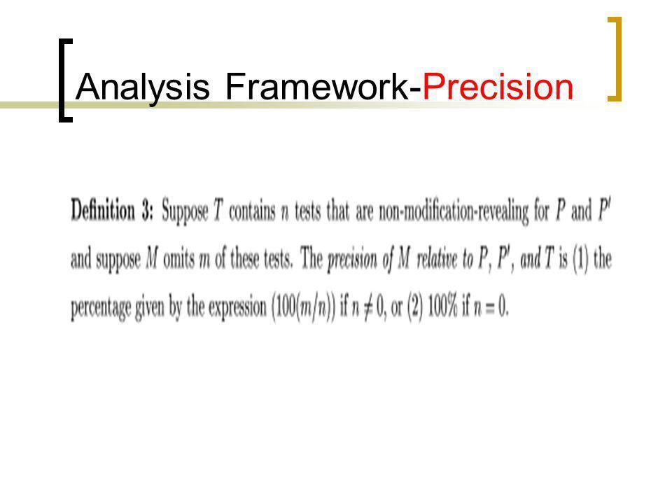 Analysis Framework-Precision