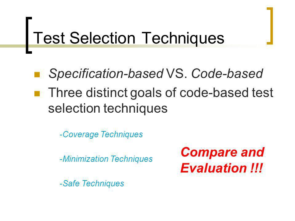 Analysis Framework Incusiveness Precision Efficiency Generality