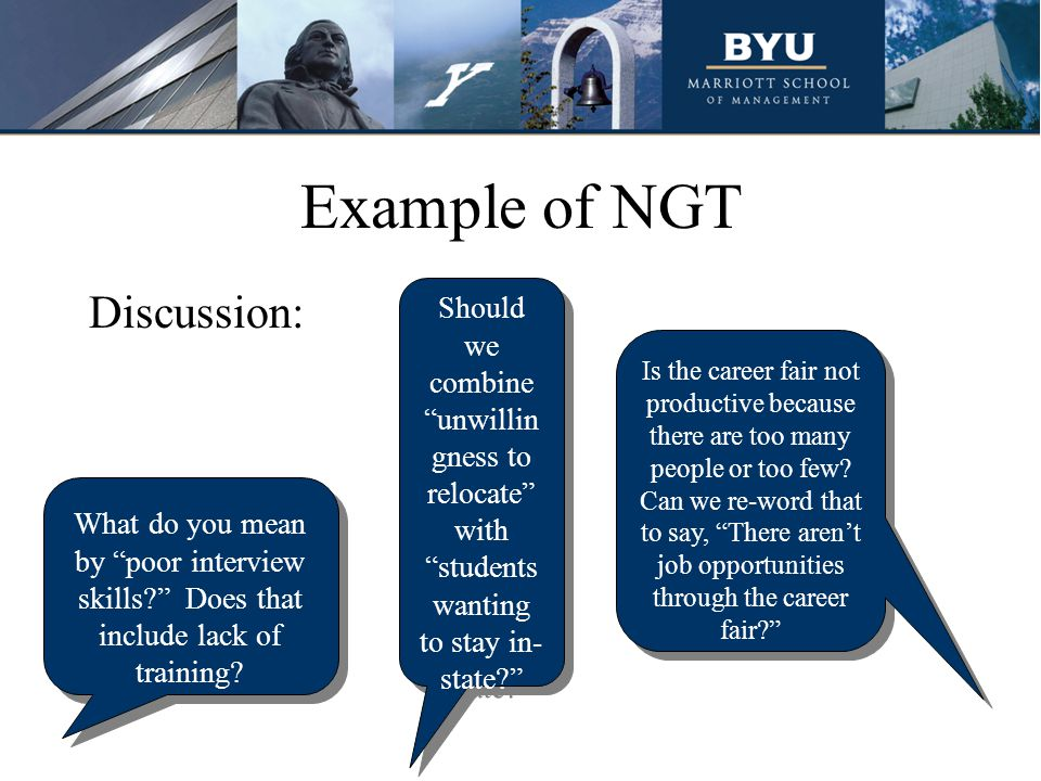 Example of NGT Discussion: What do you mean by poor interview skills.