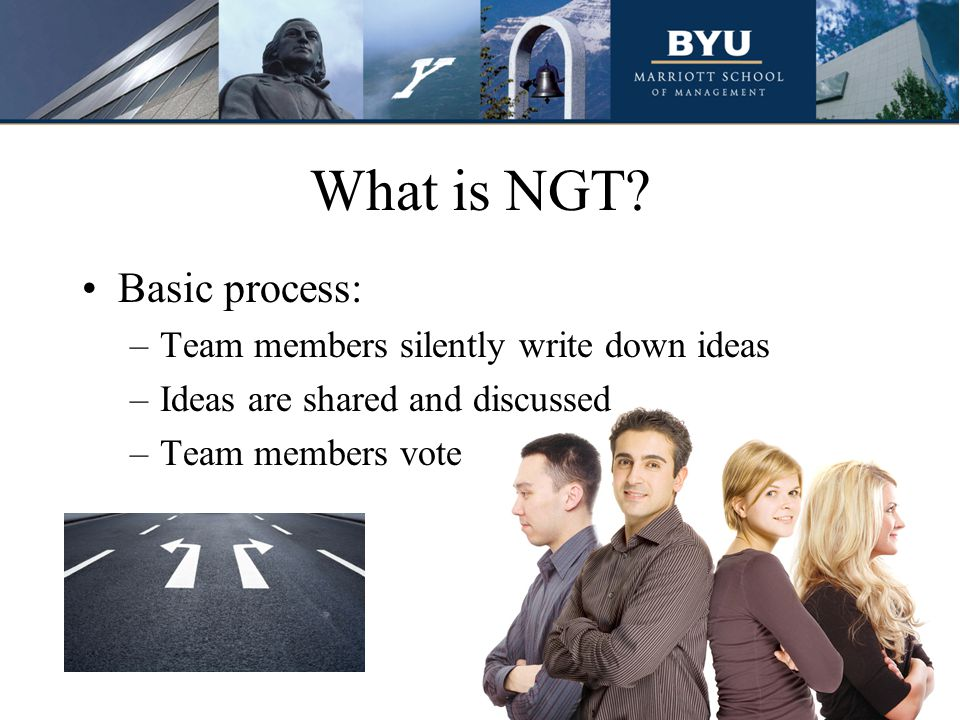 Example of NGT The faculty at X-University is concerned that the students are not getting internships and jobs.
