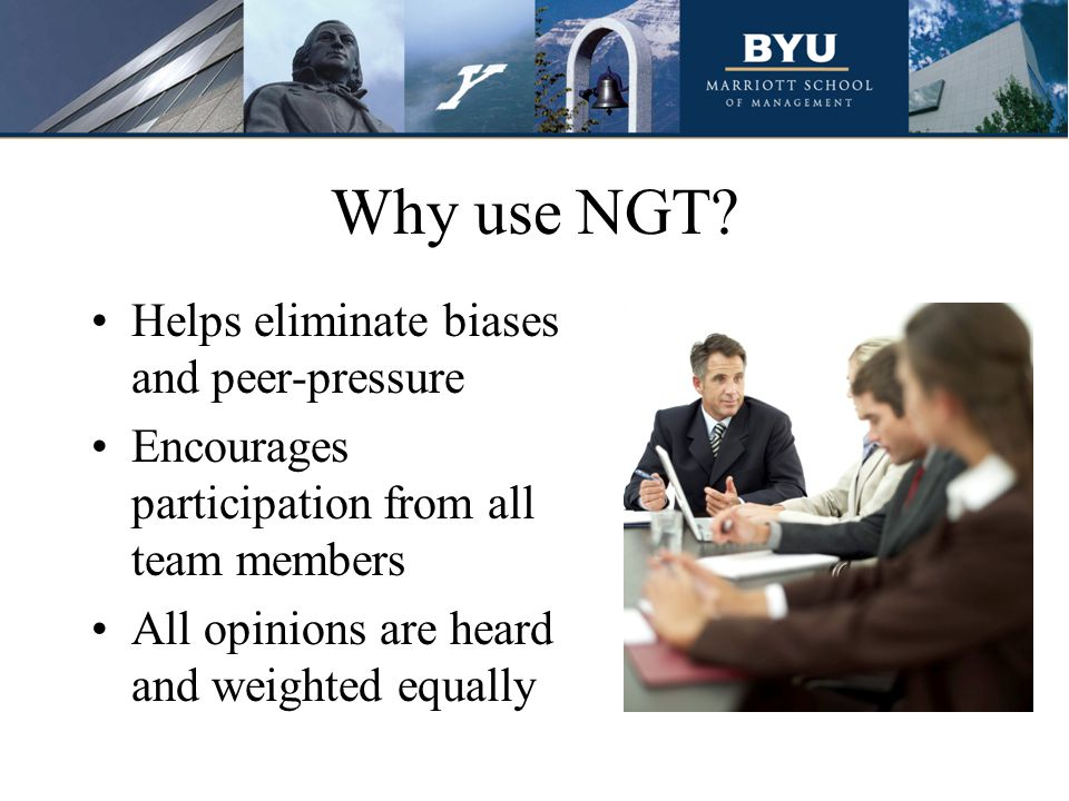 Why use NGT.