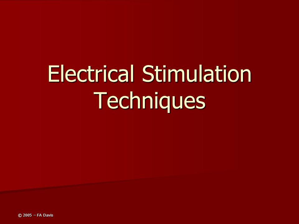 © 2005 – FA Davis Electrical Stimulation Techniques