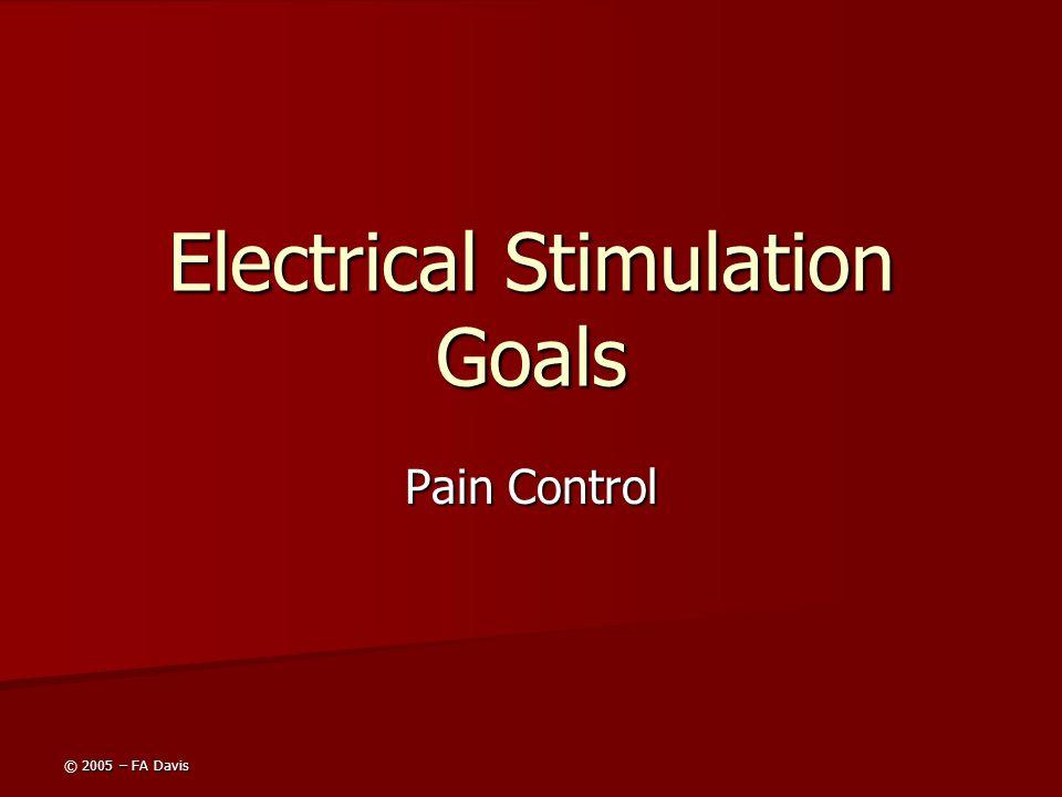 © 2005 – FA Davis Electrical Stimulation Goals Pain Control