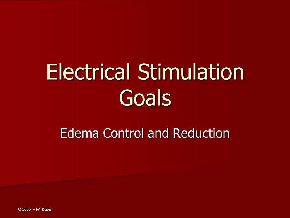 © 2005 – FA Davis Electrical Stimulation Goals Edema Control and Reduction