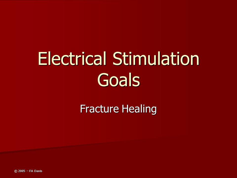© 2005 – FA Davis Electrical Stimulation Goals Fracture Healing