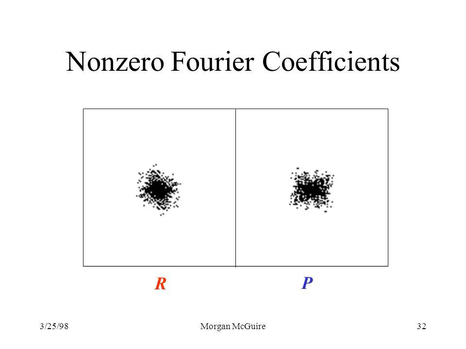 3/25/98Morgan McGuire32 Nonzero Fourier Coefficients R P