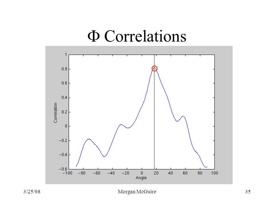 3/25/98Morgan McGuire35 Correlations