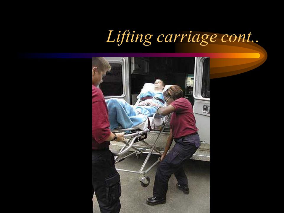 Lifting carriage cont..
