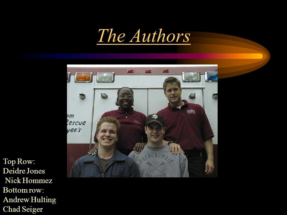 The Authors Top Row: Deidre Jones Nick Hommez Bottom row: Andrew Hulting Chad Seiger