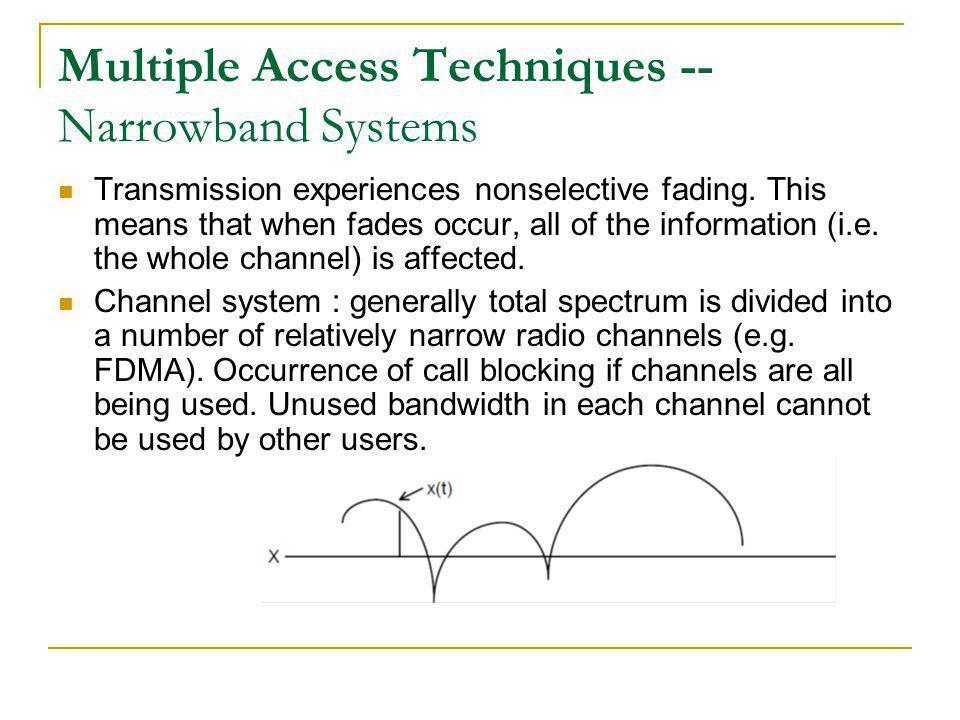 CDMA Advantages Low power spectral density.