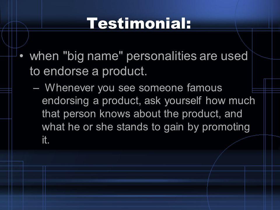 Testimonial: when