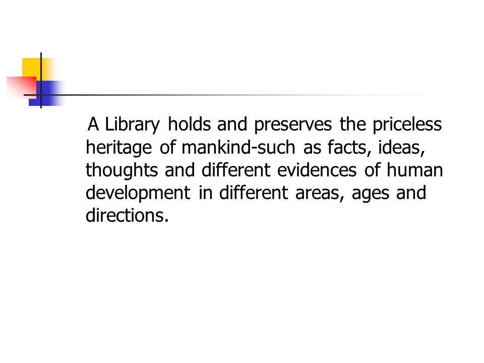 conclusion Preservation of document is nothing but the preservation of knowledge for future use.