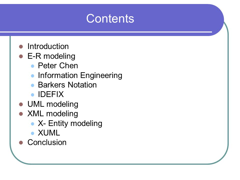 UML UML is an object modeling technique It models object classes instead of entities In the object oriented world the relationships are called as associations Cardinality and optionality in UML is conveyed by characters or numbers Express in the form of more complex upper and lower limits UML introduces a small flag that includes text describing any business rules