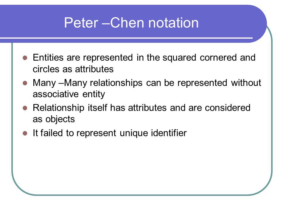 Peter Chens Model